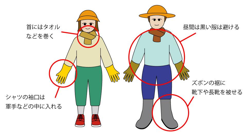 虫・植物から身を守る服装