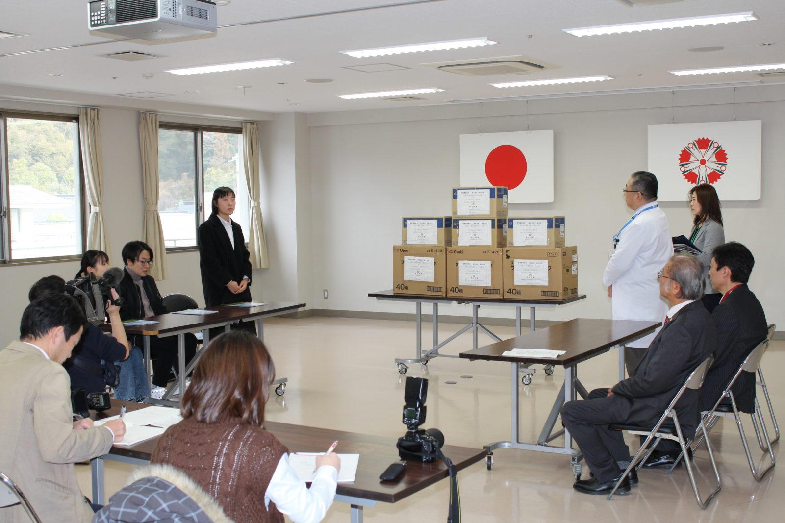 中国人留学生が武漢へマスク。山口地域ケアセンターが調達支援