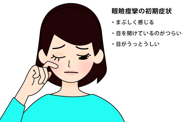 痙攣 の した 瞼