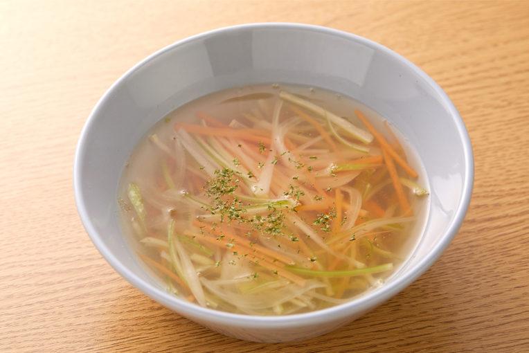 食物繊維の多い食材を使いましょう。野菜は繊維にそって長めに切ると◎