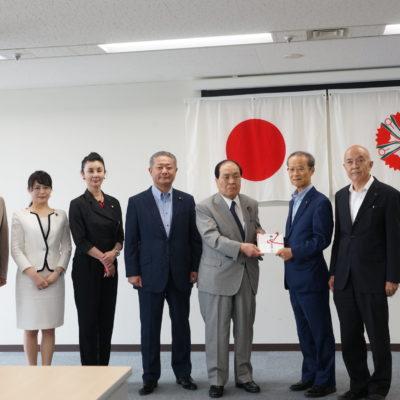 日本維新の会、済生会に1500万円寄付